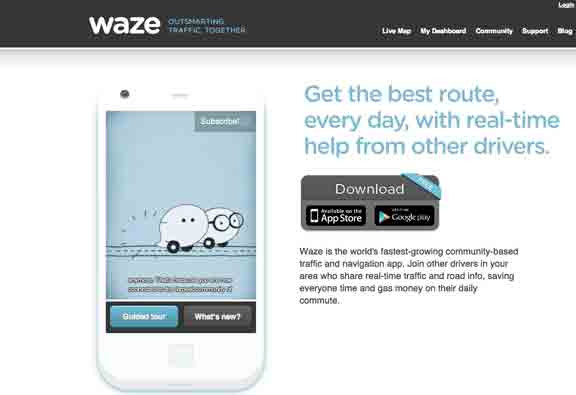 SoundWater.com On -waze is a free mobile navigation application for your iphone or android that allows drivers to build and use live maps, real-time traffic updates and turn-by-turn ..